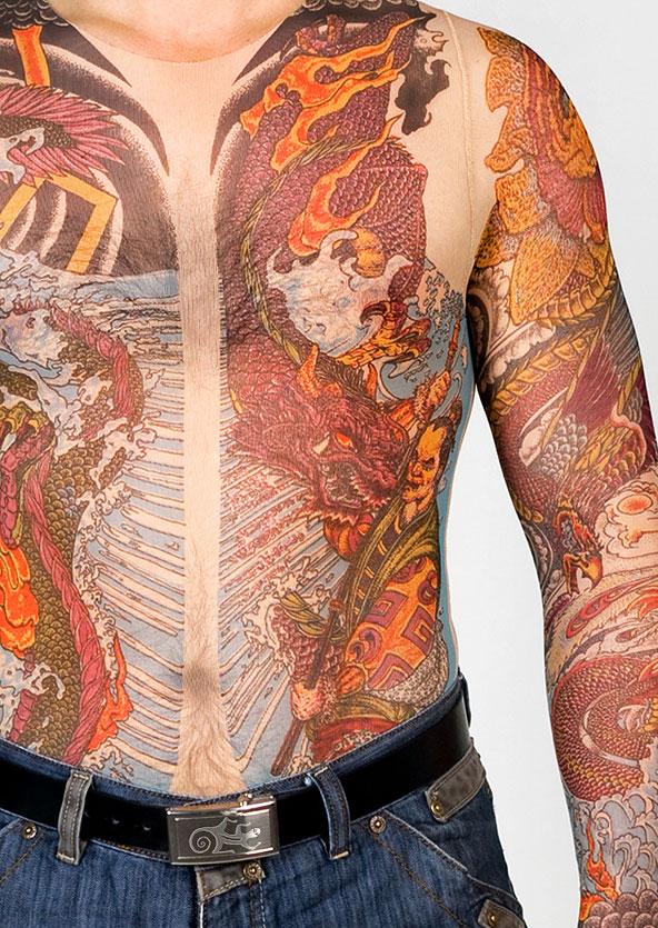 Полный эффект тату по всему телу